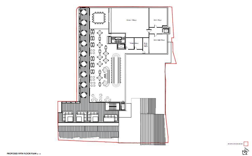 7 Proposed Roof Terrace Floor Plan Slatters Development